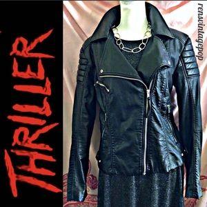 Vegan Leather Thriller Moto Jacket